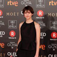 Alba Galocha en la alfombra roja de los Premios Goya 2018