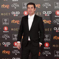 Arturo Valls en la alfombra roja de los Premios Goyas 2018