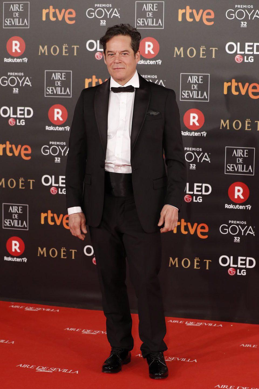 Jorge Sanz en la alfombra roja de los Premios Goya 2018