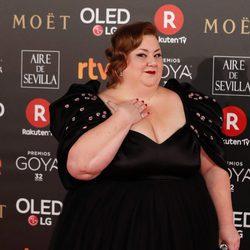 Itziar Castro nominada a Actriz Revelación en la alfombra roja de los Premios Goya 2018