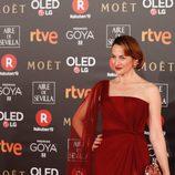 Cuca Escribano en la alfombra roja de los Premios Goya 2018