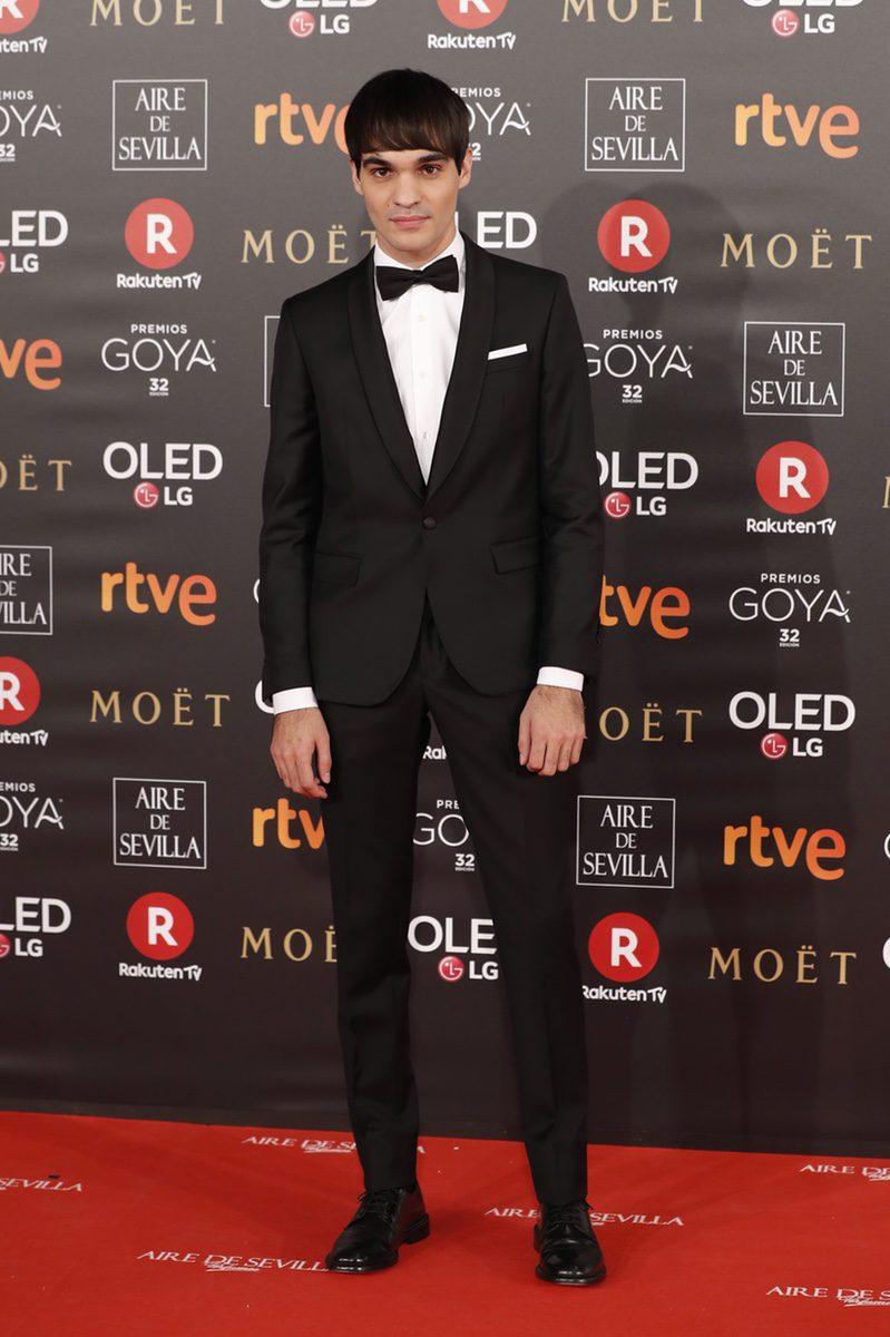 Eneko Sagardoy en la alfombra roja de los Premios Goya 2018