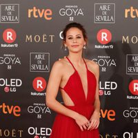 Irene Escolar en la alfombra roja de los Premios Goya 2018
