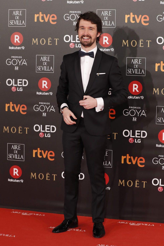 Santiago Alverú en la alfombra roja de los Premios Goya 2018