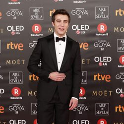 Pol Monen en la alfombra roja de los Premios Goya 2018