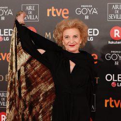 Marisa Paredes ganadora del Goya de Honor en la alfombra roja de los Premios Goya 2018