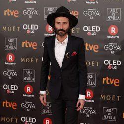 Leiva posa durante la alfombra roja de los Premios Goya 2018