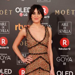 Macarena García la protagonista de 'La Llamada' en la alfombra roja de los Premios Goya 2018