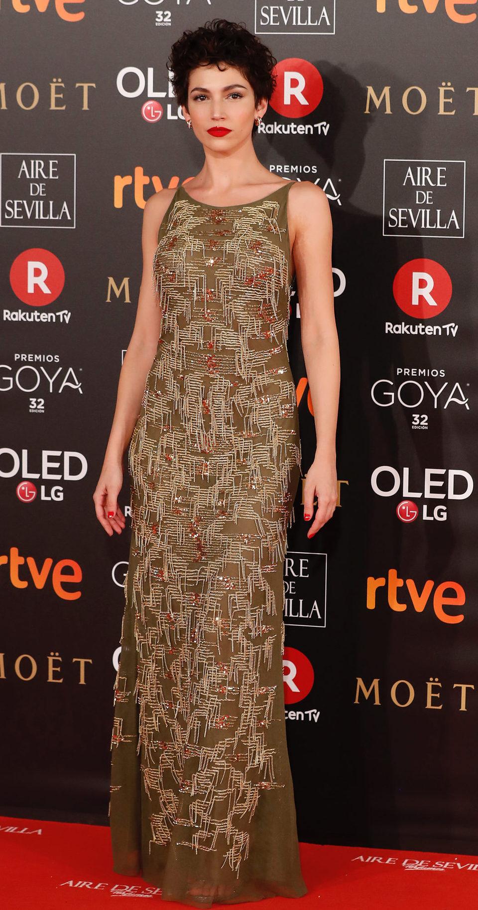 Úrsula Corberó en la alfombra roja de los Premios Goya 2018