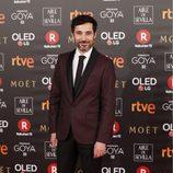 Andrés Gertrudix en la alfombra roja de los Premios Goya 2018