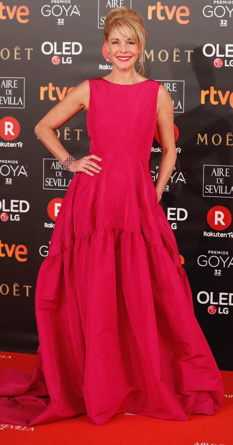 Belén Rueda en la alfombra roja de los Premios Goya 2018