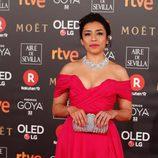Adriana Paz en la alfombra roja de los Premios Goya 2018