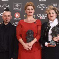 Ainhoa Eskisabel, Olga Cruz y Gorka Aguirre Frías, Goya a Mejor maquillaje y peluquería
