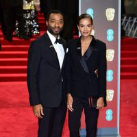 Chiwetel Ejiofor at the BAFTAs 2018 red carpet
