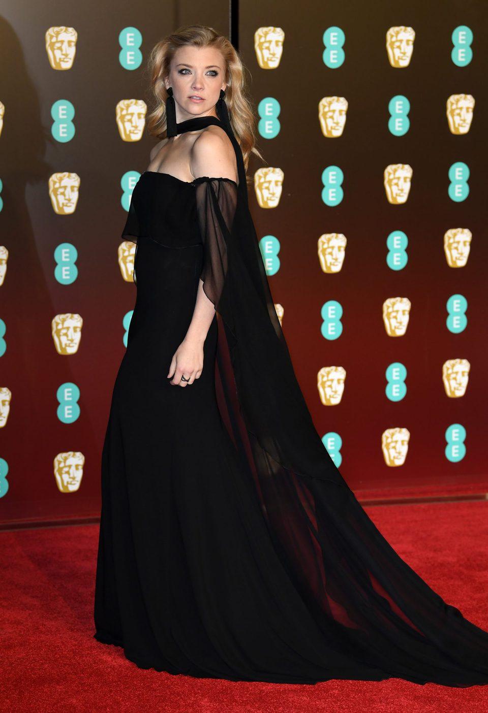 Natalie Dormer en la alfombra roja de los BAFTA 2018