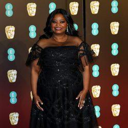 Octavia Spencer en la alfombra roja de los BAFTA 2018