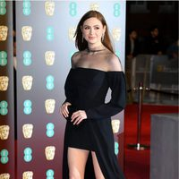 Karen Gillan at the BAFTA Awards' 2018 red carpet