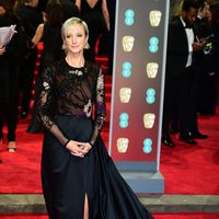 Andrea Riseborough at the BAFTAs 2018 red carpet