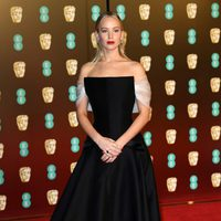 Jennifer Lawrence at the BAFTAs 2018 red carpet