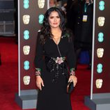 Salma Hayek en la alfombra roja de los BAFTA 2018