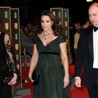 The Duke and Duchess of Cambridge at the BAFTA Awards' 2018 red carpet