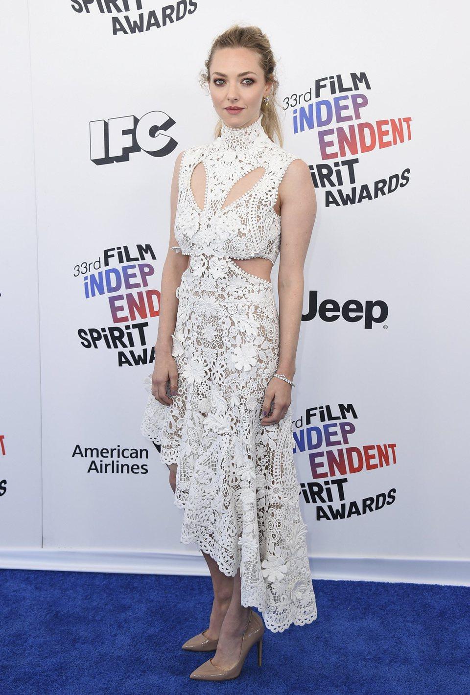 Amanda Seyfried en los Spirit Award 2018