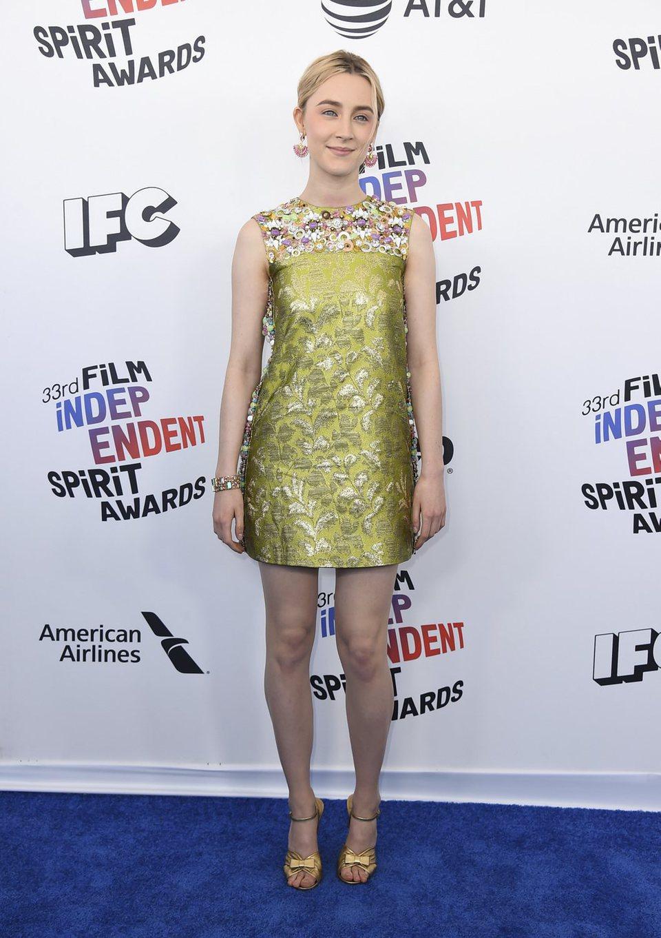 Saoirse Ronan en los Spirit Awards 2018
