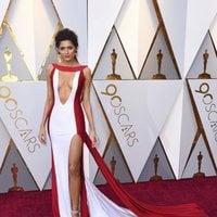 Blanca Blanco posa en la alfombra roja de los Oscar 2018