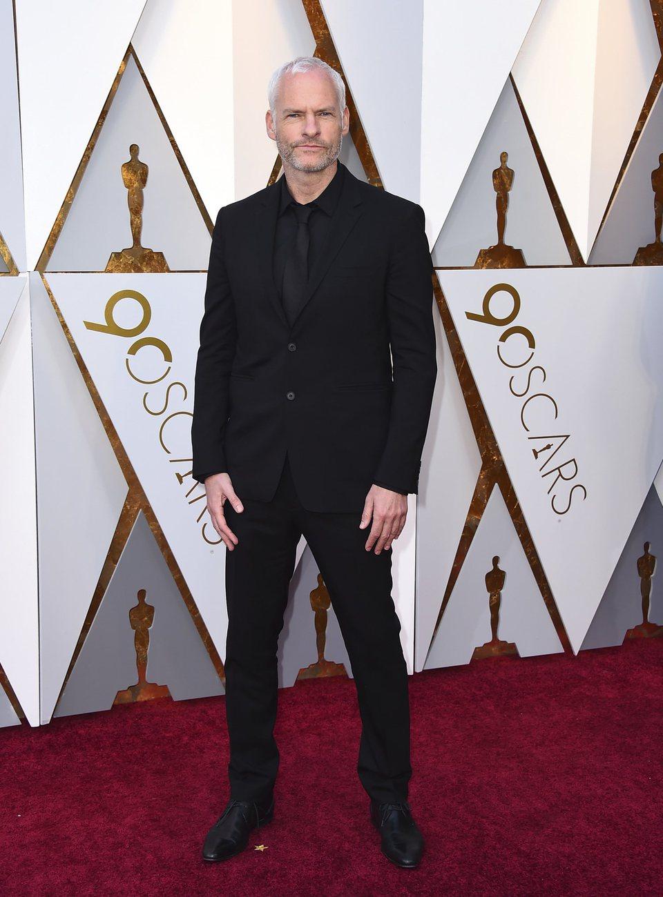 Martin McDonagh en la alfombra roja de los Oscar 2018