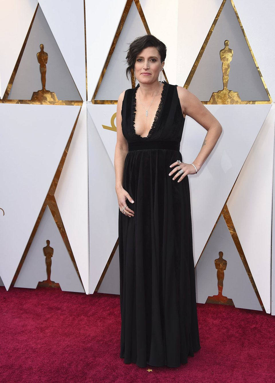 Rachel Morrison en la alfombra roja de los Oscar 2018