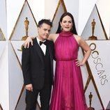 Sebastián Lelio y Daniela Vega en la alfombra roja de los Oscar