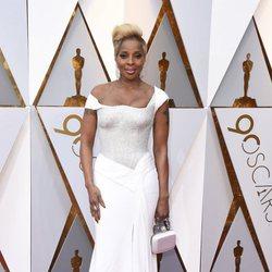 Mary J. Blige en la alfombra roja de los Oscar 2018