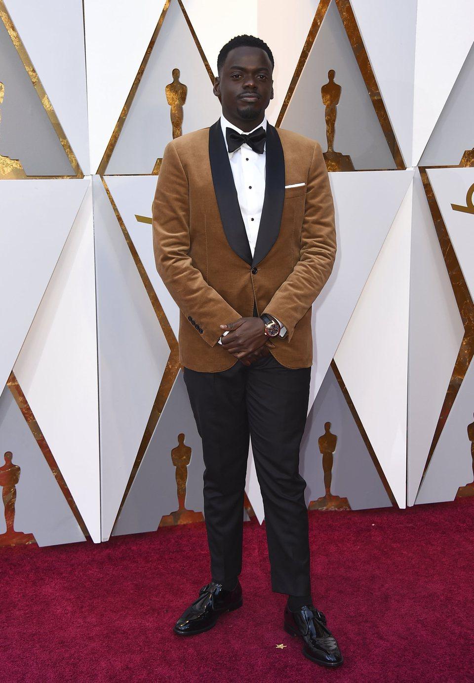 Daniel Kaluuya en la alfombra roja de los Oscar 2018