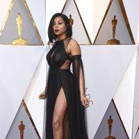 Taraji P. Henson en la alfombra roja de los Oscar 2018