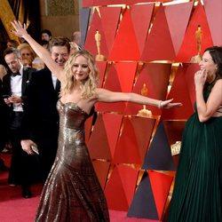 Jennifer Lawrence en la alfombra roja de los Oscar 2018