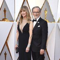 Steven Spielberg y su mujer Kate Capshaw en la alfombra roja