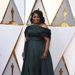 Octavia Spencer en la alfombra roja de los Oscar 2018