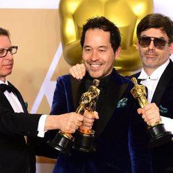 Jeffrey A. Melvin, Paul Denham Austerberry y Shane Vieau, Oscar a Mejor diseño de producción por 'La forma del agua'