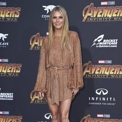 Gwyneth Paltrow posa en la alfombra púrpura de la premiere de 'Vengadores: Infinity War'