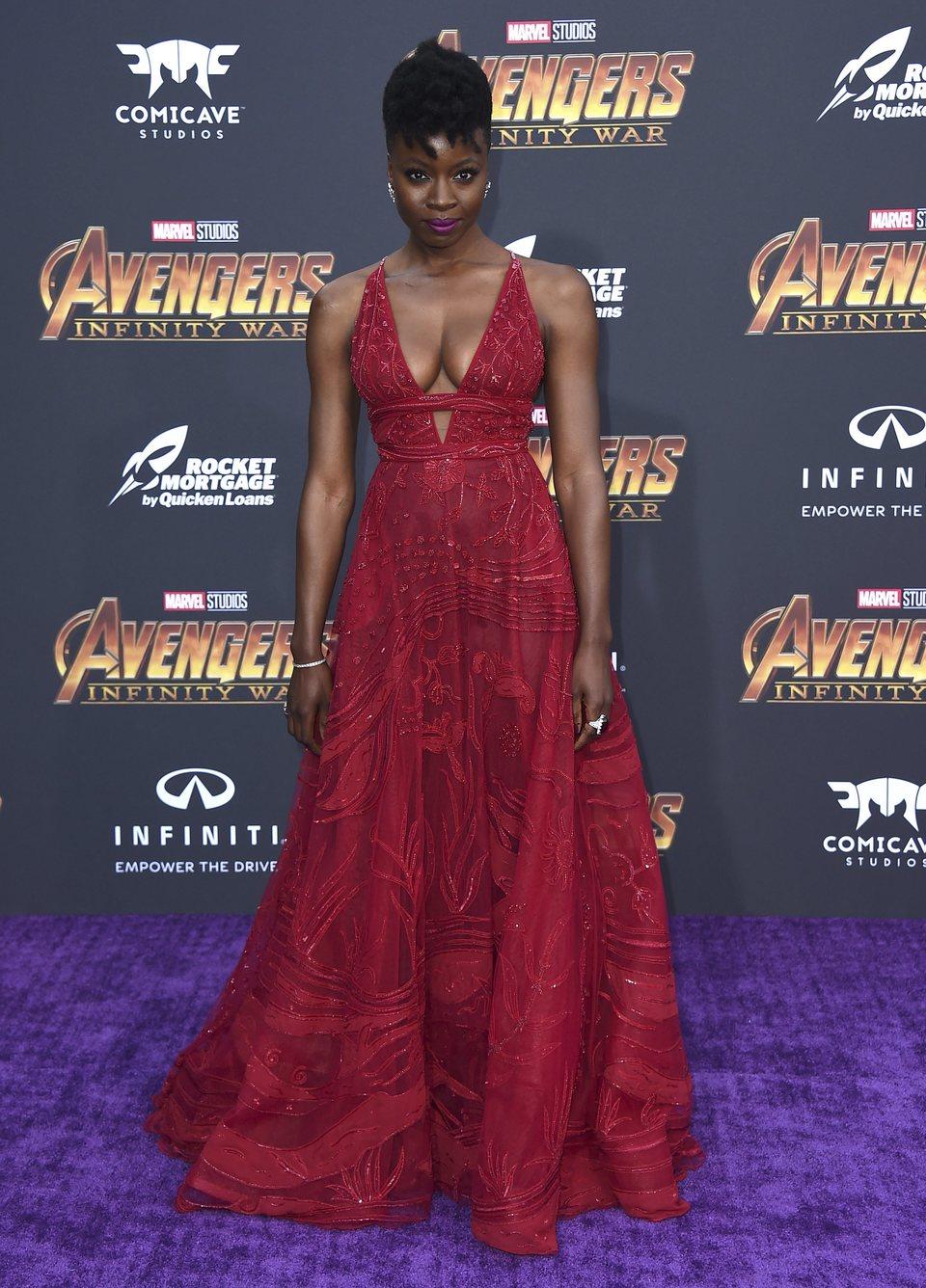 Danai Gurira posa en la premiere mundial de 'Vengadores: Infinity War'