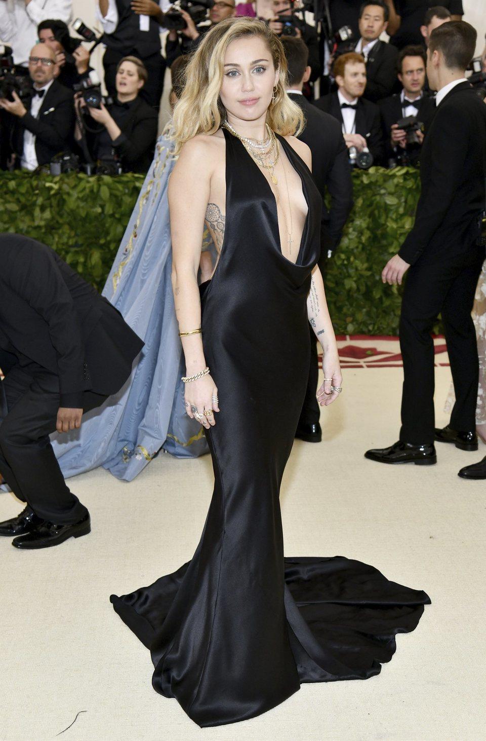 Miley Cyrus en la Gala Met 2018