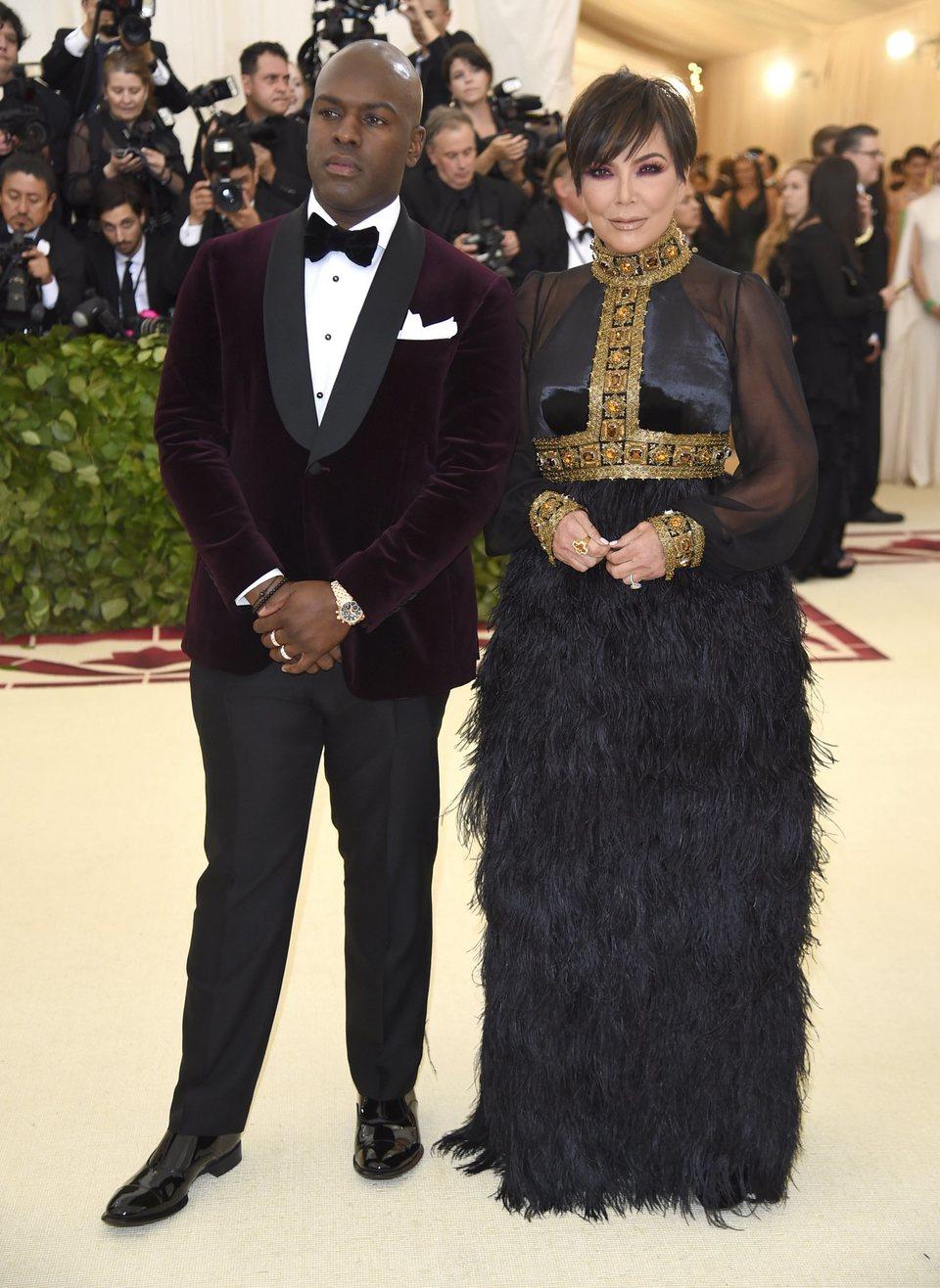 Kris Jenner and Corey Gamble at the Met Gala 2018