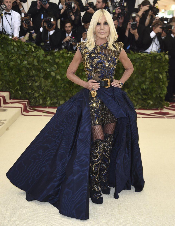 Donatella Versace en la Gala Met 2018