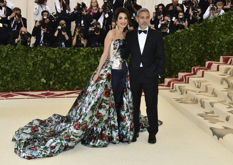 George Clooney y Amal Clooney en la Gala Met 2018