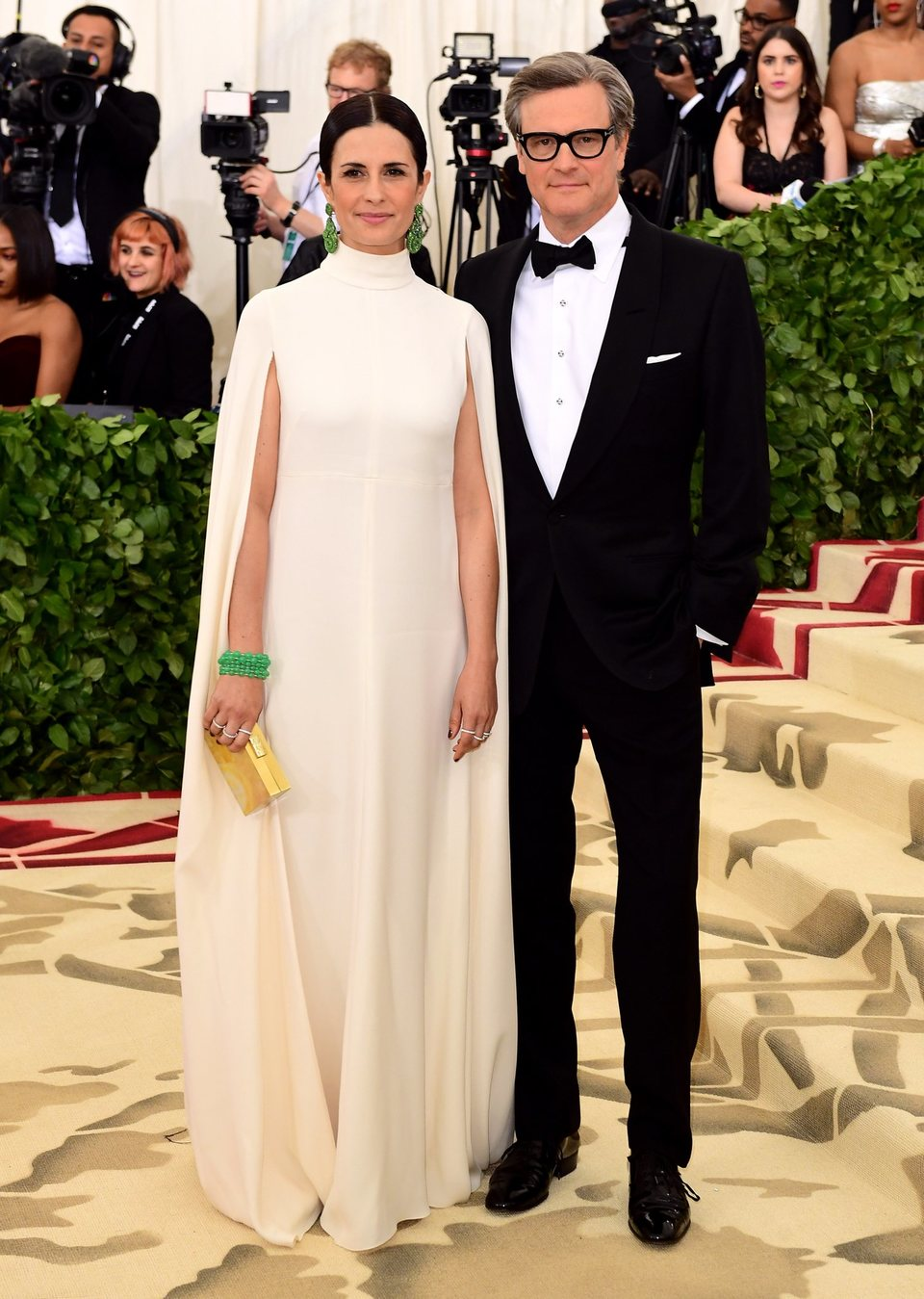 Colin Firth y Livia Giuggioli en la Gala Met 2018