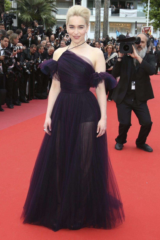 Emilia Clarke asiste a la premiere de 'Han Solo: Una historia de Star Wars' durante el Festival de Cannes