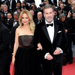 Kelly Preston y John Travolta asisten a la premiere de 'Han Solo: Una historia de Star Wars' durante el Festival de Cannes