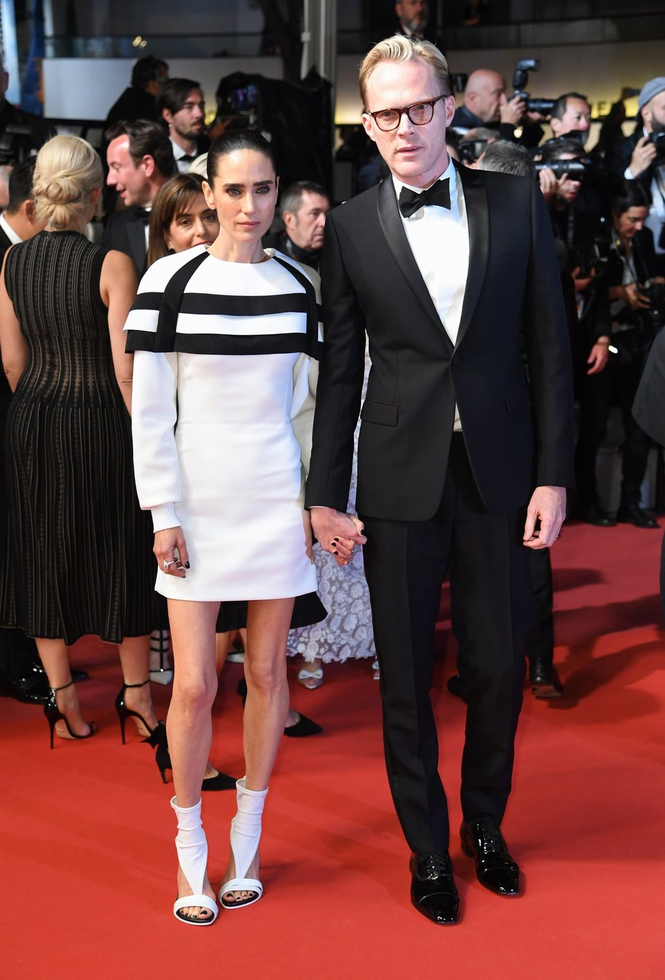 Jennifer Connelly y Paul Bettany asisten a la premiere de 'Han Solo: Una historia de Star Wars' durante el Festival de Cannes