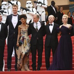 El reparto de 'Han Solo: Una historia de Star Wars' asiste a la premiere de la película en el Festival de Cannes