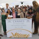 Los actores de 'Han Solo: Una historia de Star Wars' asisten a la premiere de la película en el Festival de Cannes